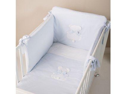 Nanán modré detské obliečky s mantinelom Fiocco