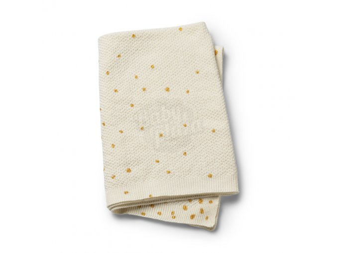 103742 Moss Knitted Blanket Gold Shimmer 1000px