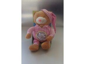 Plyšová hračka svítící CREACIONES LLOPIS medvěd – Růžový