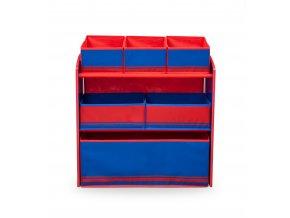 Organizér na hračky modro - červený