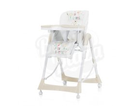 CHIPOLINO Dětská jídelní židlička Comfort Plus - Creme