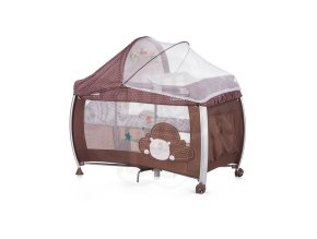 CHIPOLINO Cestovní postýlka Play pen and crib Casida - brown bear