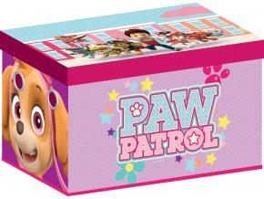 Dětská látková truhla Tlapková patrola Pink