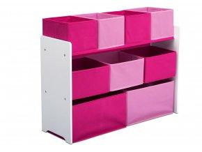 Organizér na hračky růžovo-bílý