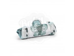 103218 Cotton Muslin Blanket Embedding Bloom Petrol frp 1000px