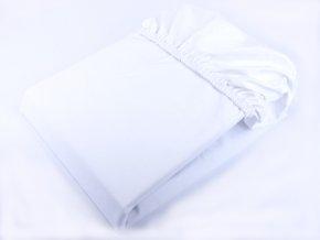 Nepromokavé bavlněné prostěradlo - bílá