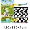 Dětský pěnový koberec - Šachovnice + pohádkový svět 150x180x1 cm