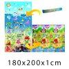 Dětský pěnový koberec - Oceán + Domek lva 200x180x1cm