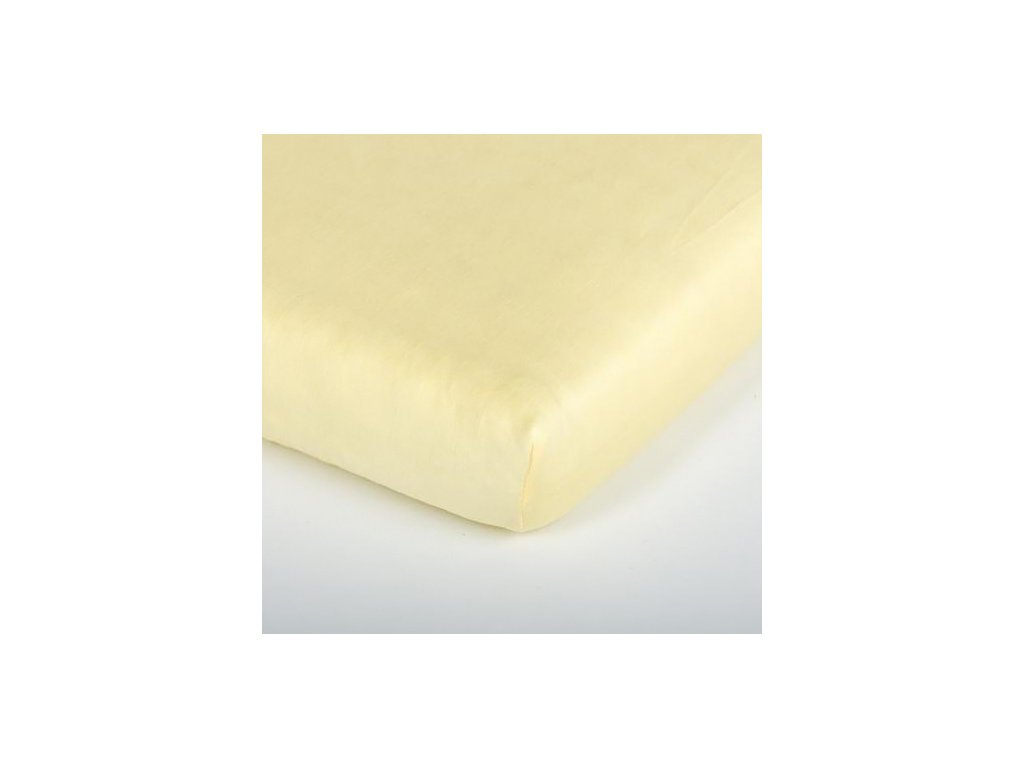 Träumeland prostěradlo 60-70x130-140 cm Tencel gelb