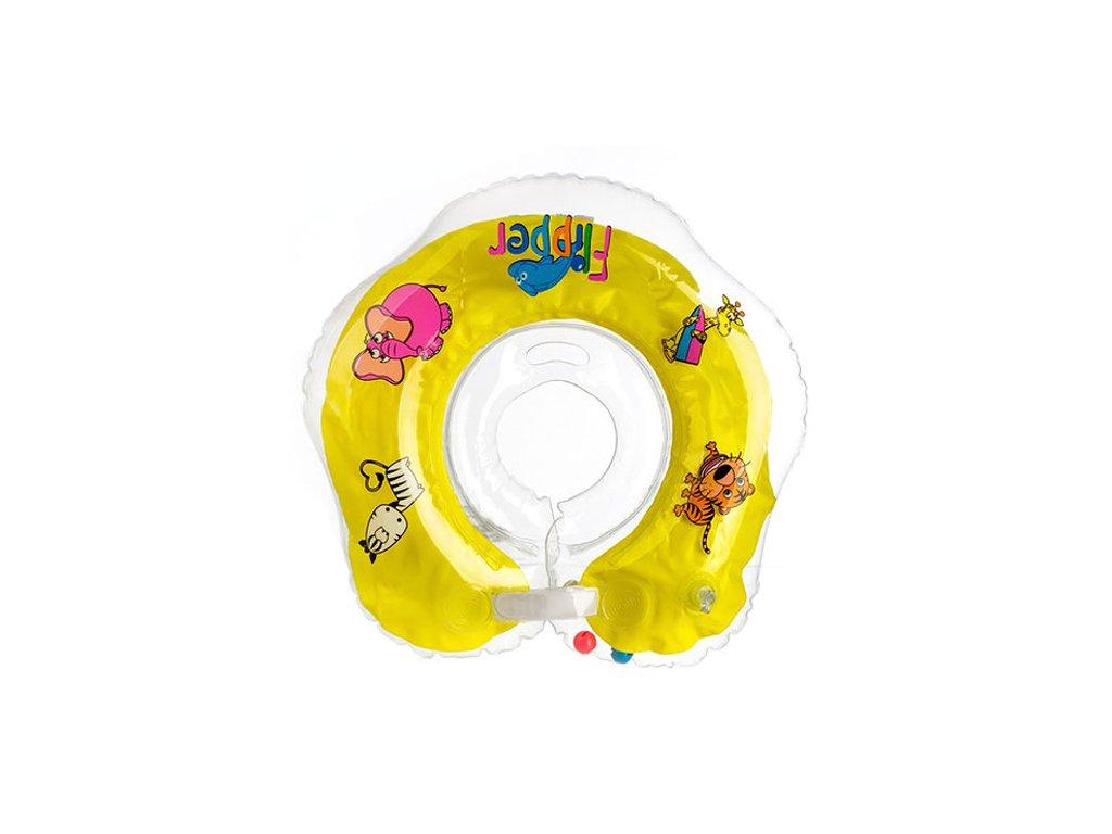 Flipper plavací nákrčník žlutá 0+