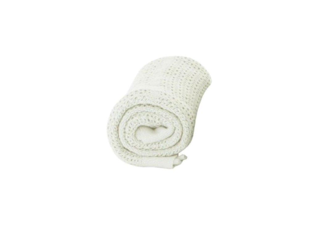 BabyDan dětská deka háčkovaná bílá