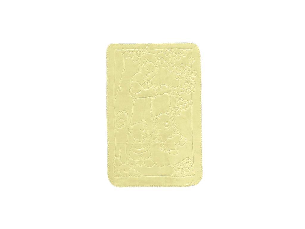 Baby Perla dětská deka 517 plastický vzor žlutá dek517/yell