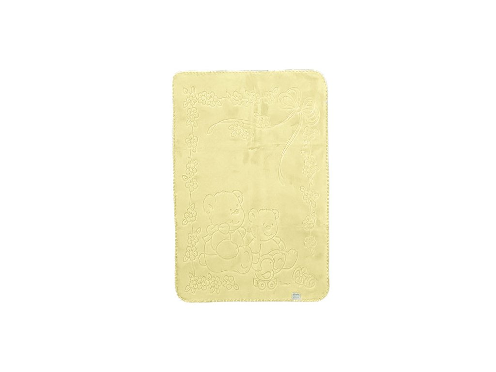 Baby Perla dětská deka 518 plastický vzor žlutá 518ZL