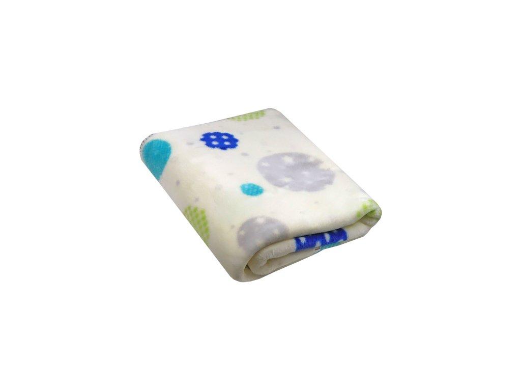 Piel akrylová deka tisk blue 80x110 cm 5233.00 6643