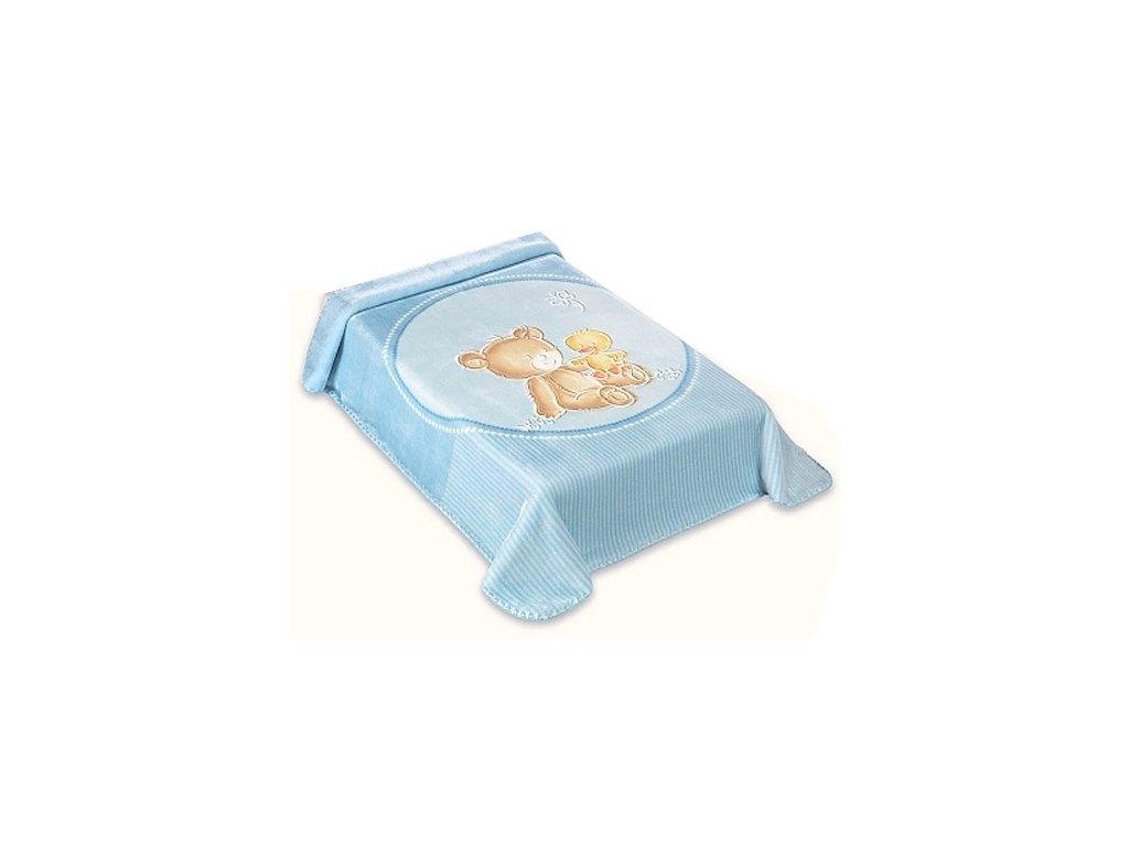 Baby Perla španělská deka 80x110 549 modrá