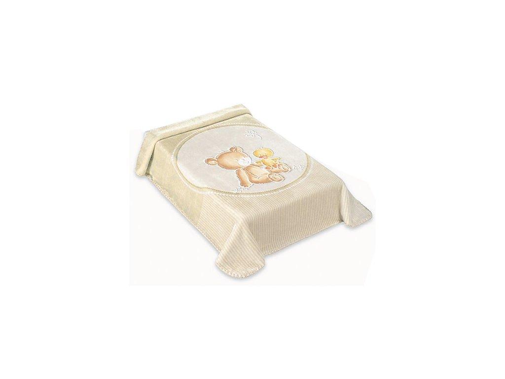 Baby Perla španělská deka 80x110 549 béžová
