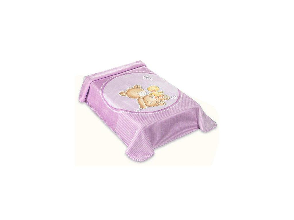 Baby Perla deka vzor 549 lila dek549L