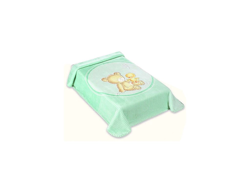 Baby Perla španělská deka 80x110 549 zelená