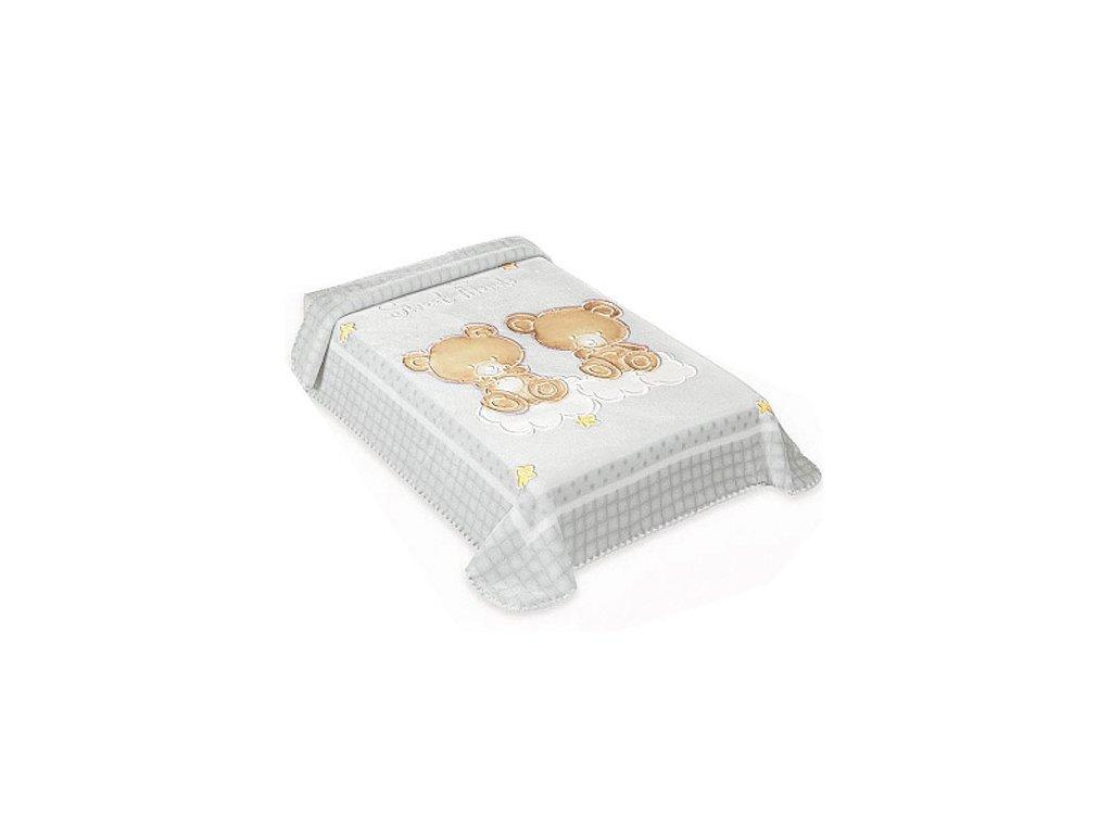 Baby Perla španělská deka 80x110 548 šedá