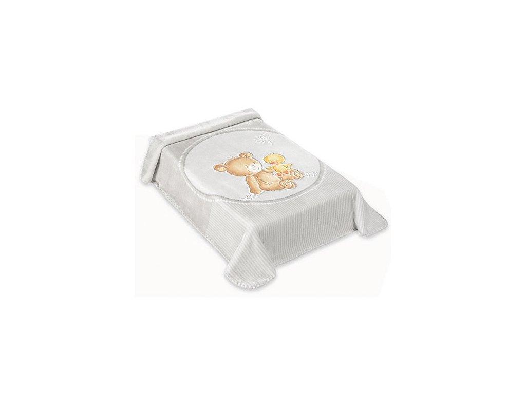 Baby Perla španělská deka 80x110 549 šedá