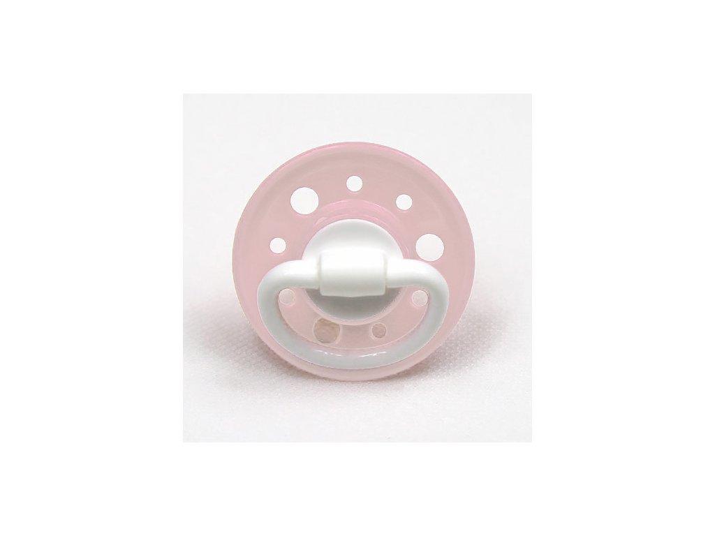 Baby Nova dudlík 0 m+ latex kulaté vel.1 pink