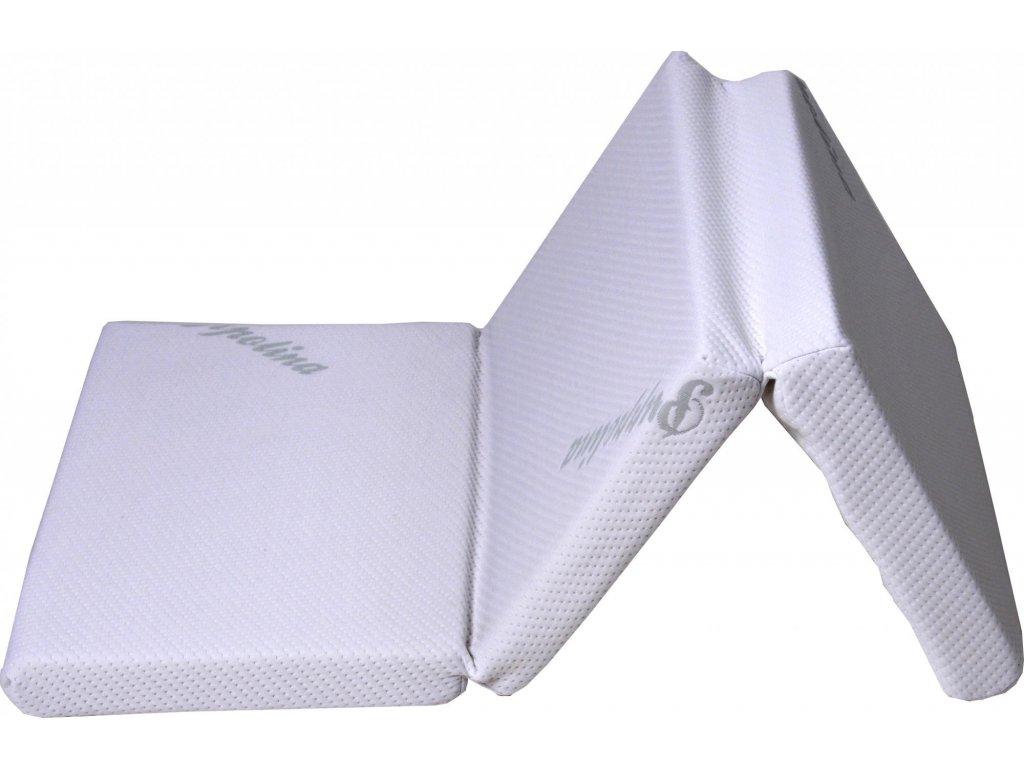 Puppolina skládací molitanová matrace 60x120 cm bílá 11064