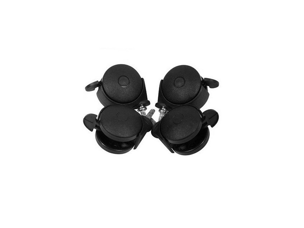 Puppolina kolečka na postýlku 4 ks černé