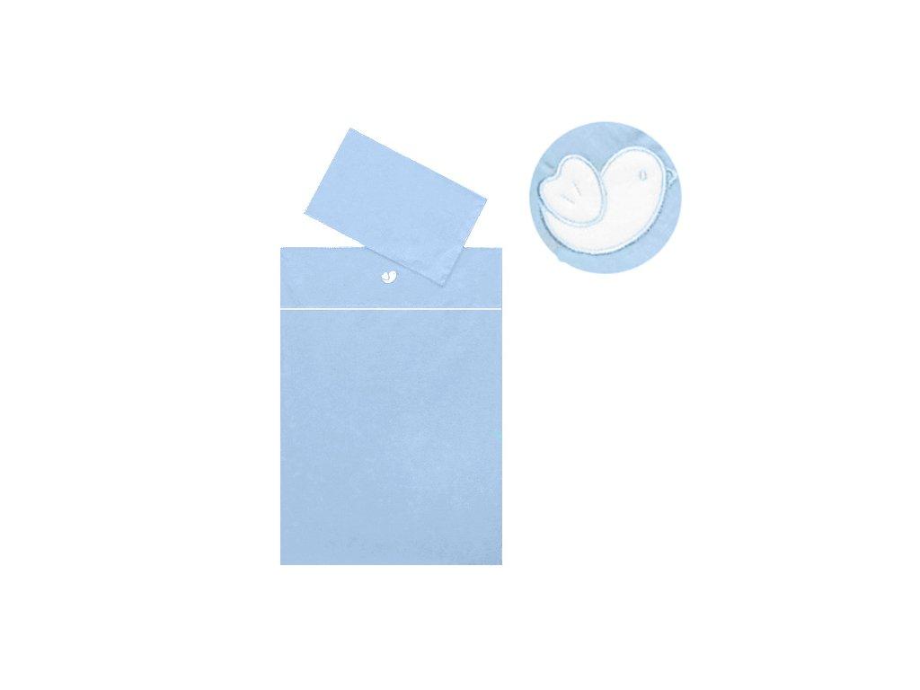 Babyrenka povlečení do postýlky dvoudílné 40x60, 90x130 cm, Bird sky blue