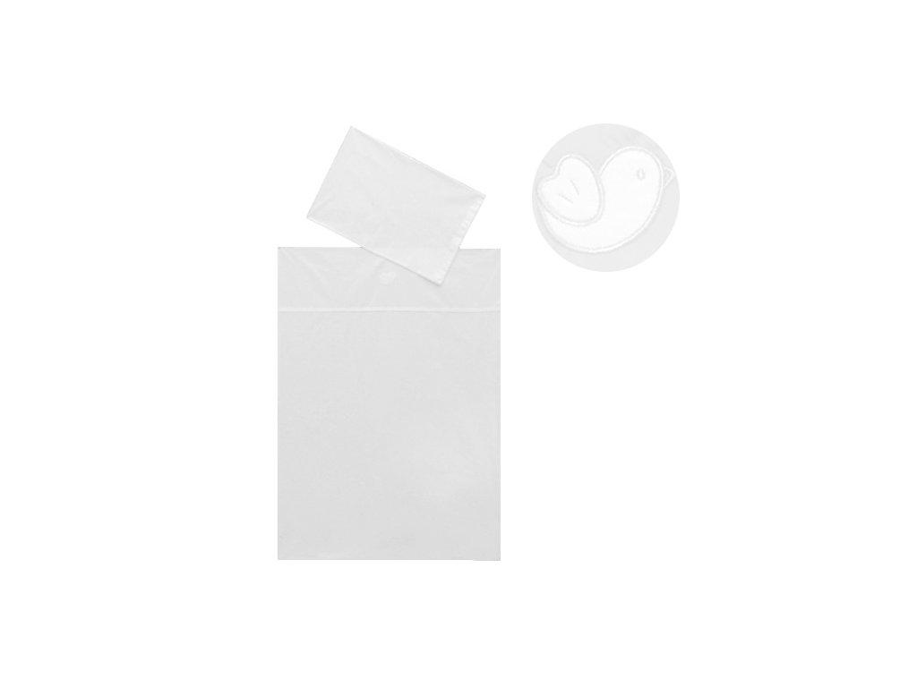 Babyrenka povlečení do postýlky dvoudílné, 40 x 60, 90x130 cm, Bird bílá