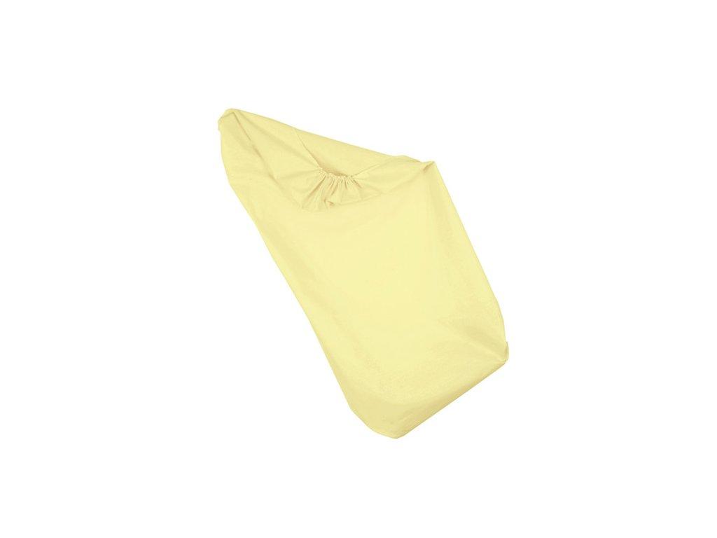 Babyrenka prostěradlo do postýlky 60x120 Lisa Yellow