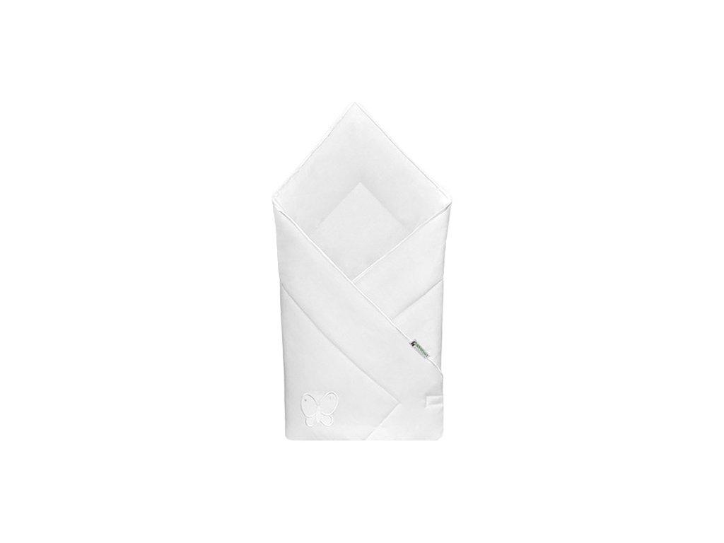 Babyrenka zavinovačka 80x80 Uni bílá výšivka bílá