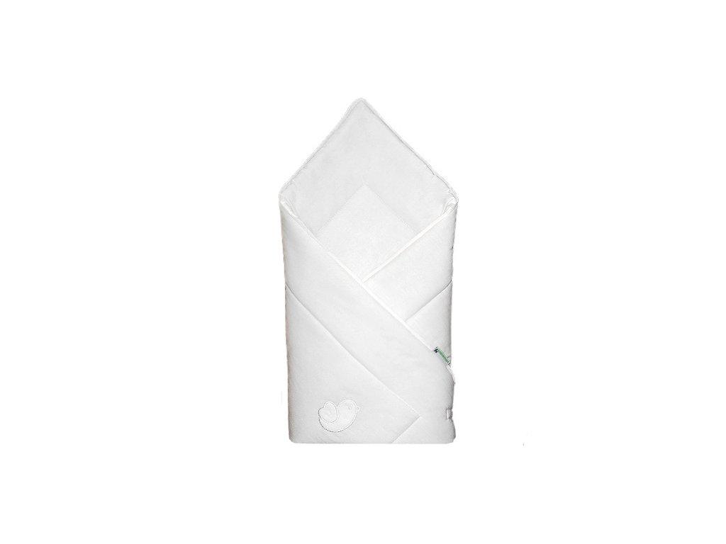 Babyrenka zavinovačka 80x80 Bird bílá bílý lem