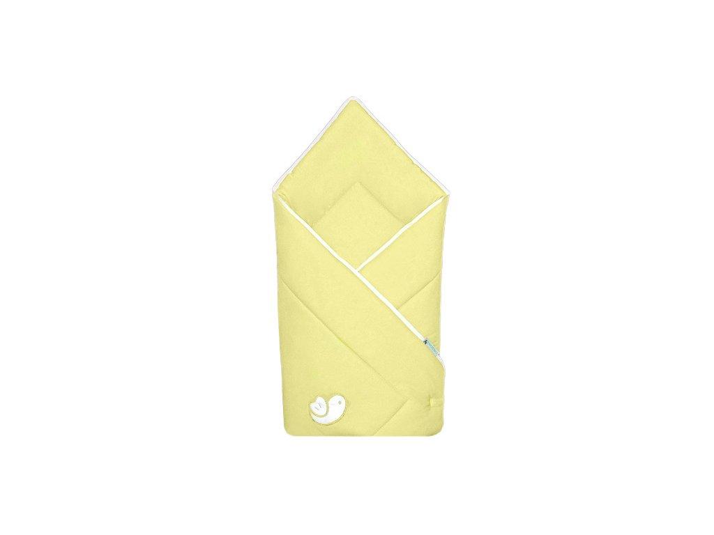 Babyrenka zavinovačka 80x80 Bird yellow bílý lem