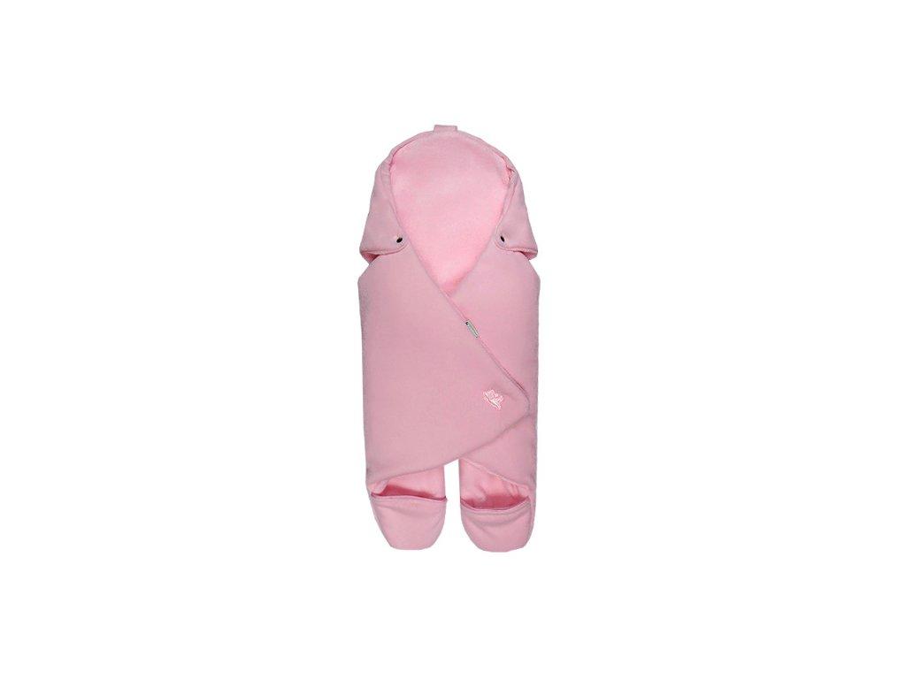 Babyrenka zavinovačka do autosedačky Basic Polar pink