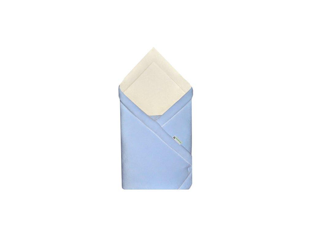 Babyrenka zavinovačka 75x75 Fleece biobavlna modrá