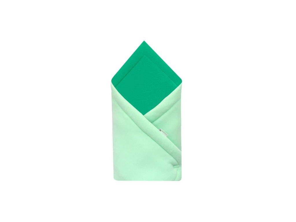 Babyrenka zavinovačka 75x75 Fleece úplet Mint Smaragd
