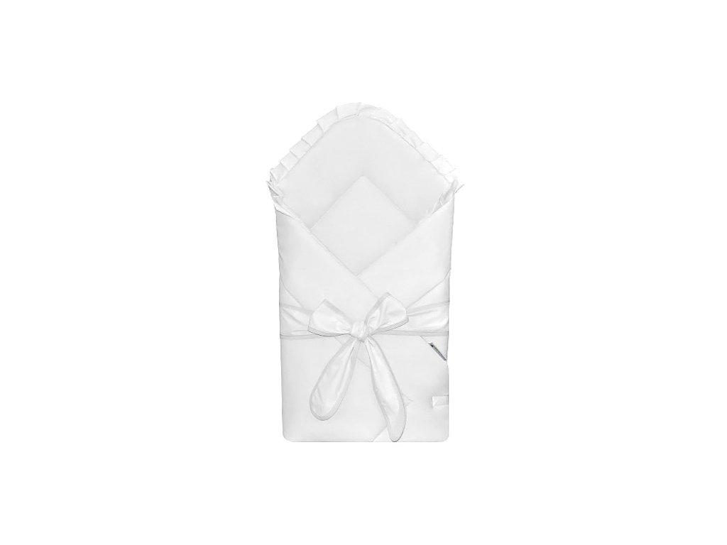 Babyrenka Zavinovačka 80x80 cm Basic s mašlí bílá