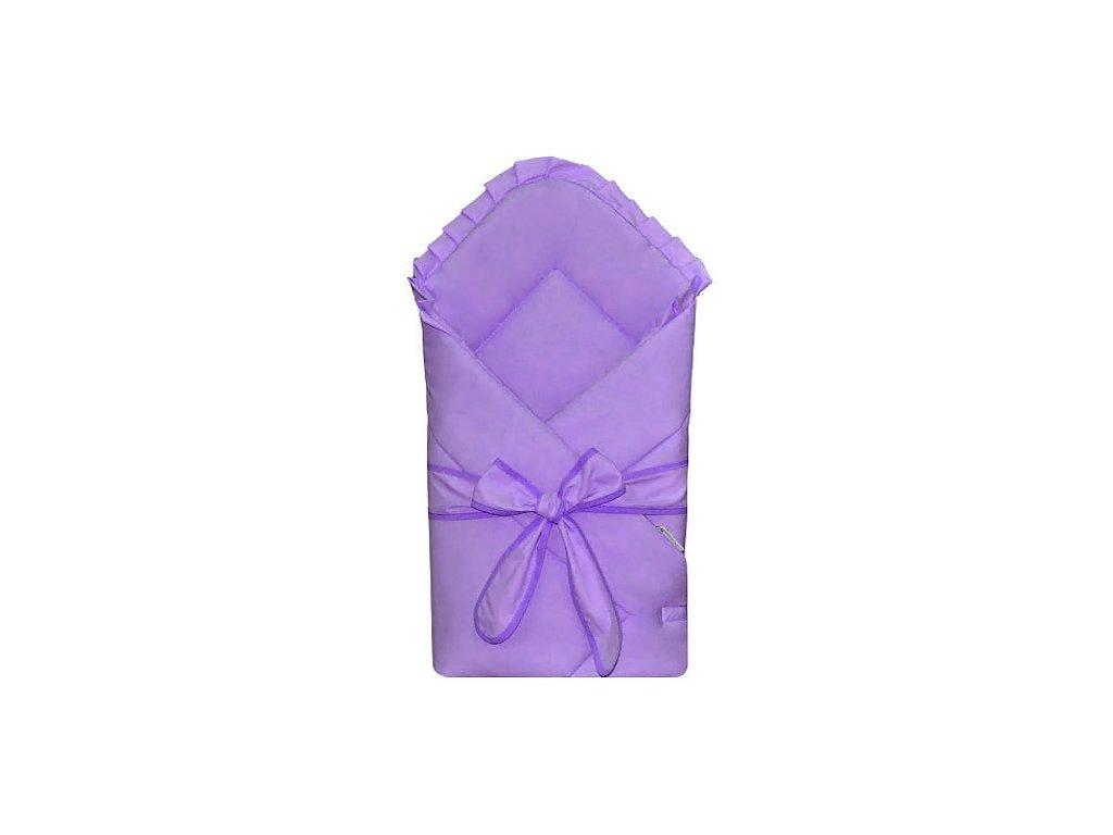 Babyrenka Zavinovačka 80x80 cm Basic s mašlí violet