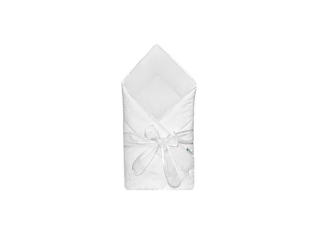 Babyrenka Zavinovačka 80x80 cm s mašlí Madeira bílá