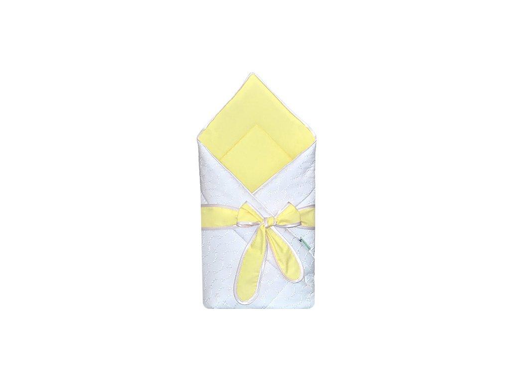 Babyrenka Zavinovačka 80x80 cm s mašlí Madeira žlutá