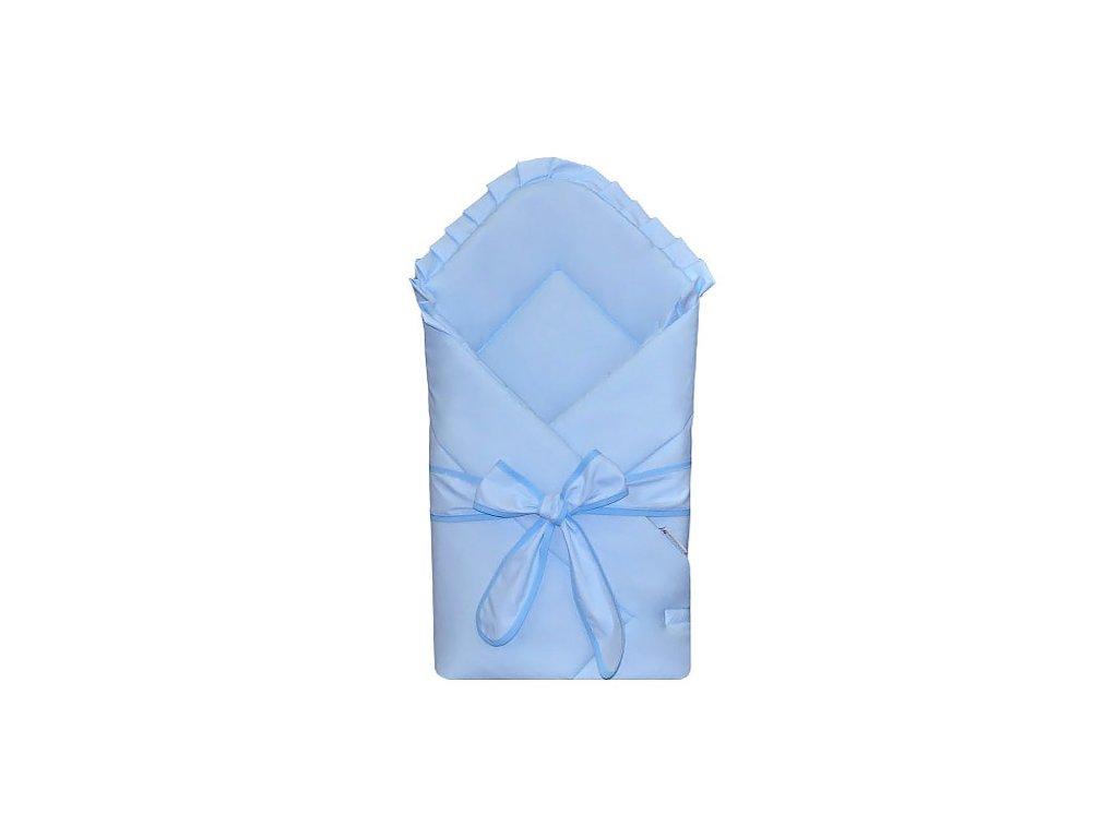 Babyrenka Zavinovačka 80x80 cm Basic s mašlí sky blue