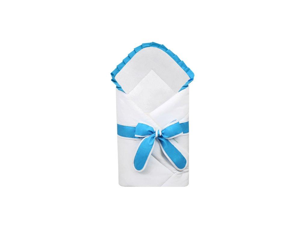 Babyrenka zavinovačka 80x80 cm Basic bílá s mašlí Uni aqua