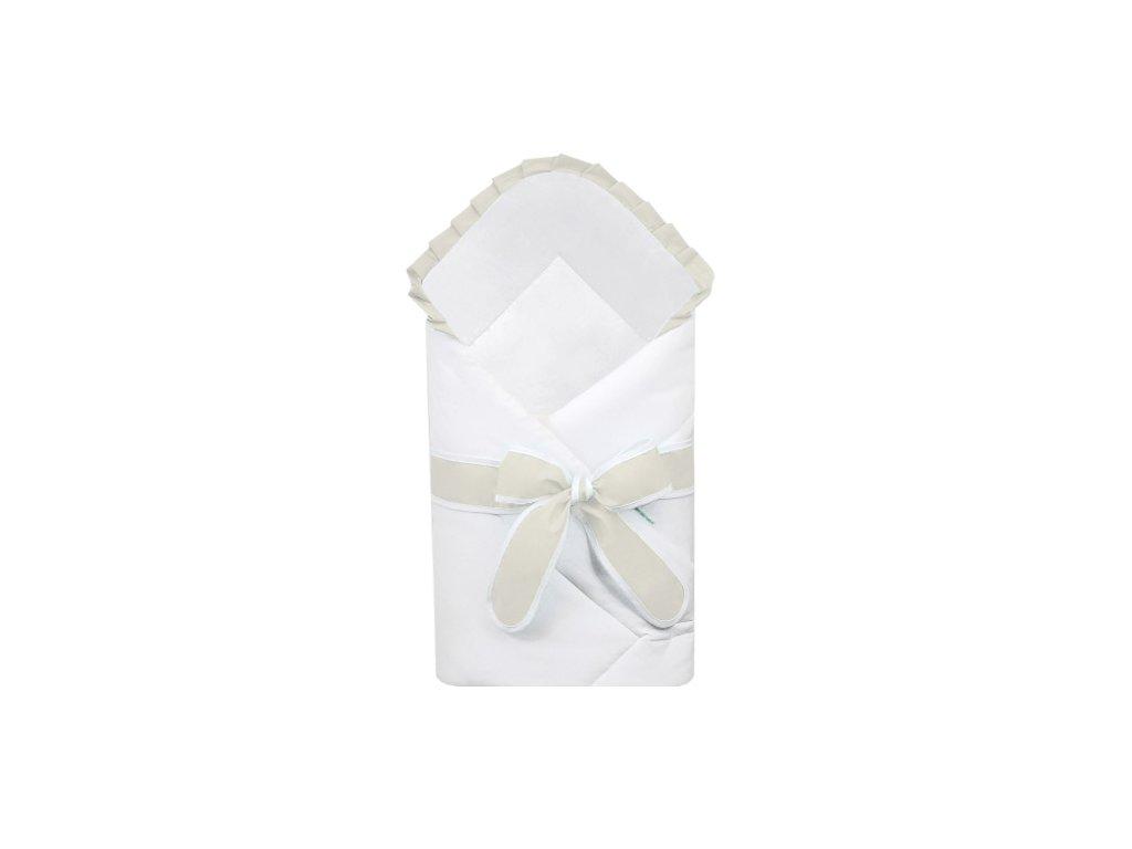 Babyrenka zavinovačka 80x80 cm Basic bílá s mašlí Uni natur