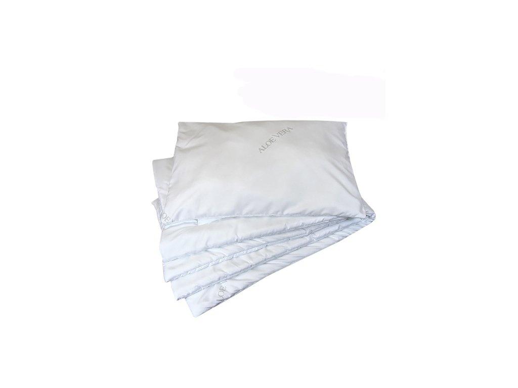 Babyrenka souprava deka a polštář 40x60, 90x130 cm Aloe Vera CZ 200 gr