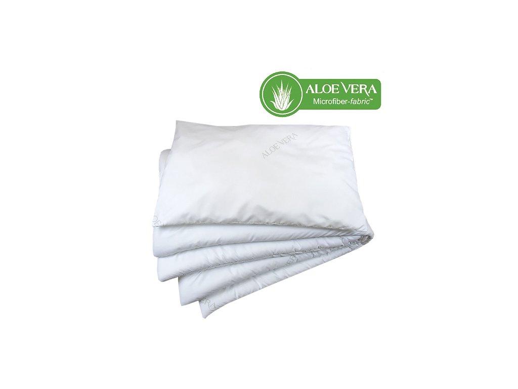 Babyrenka souprava deka a polštář 40x60, 90x130 cm Aloe Vera CZ 400 gr