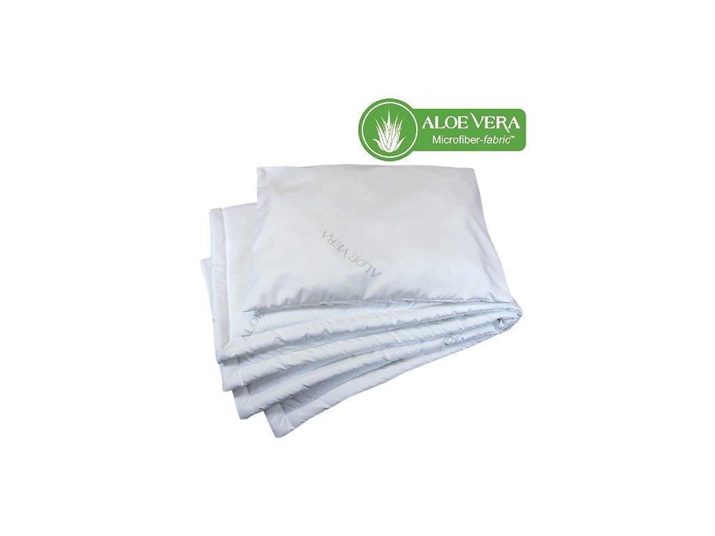 Babyrenka souprava deka a polštář 40x50, 90x120 Aloe Vera PL 200 gr Unico
