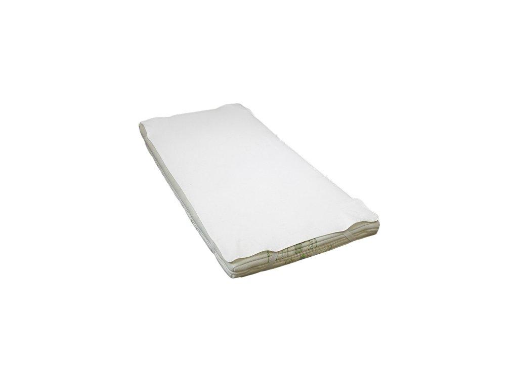 Babyrenka Nepropustná podložka s gumou 180x200 cm bílá