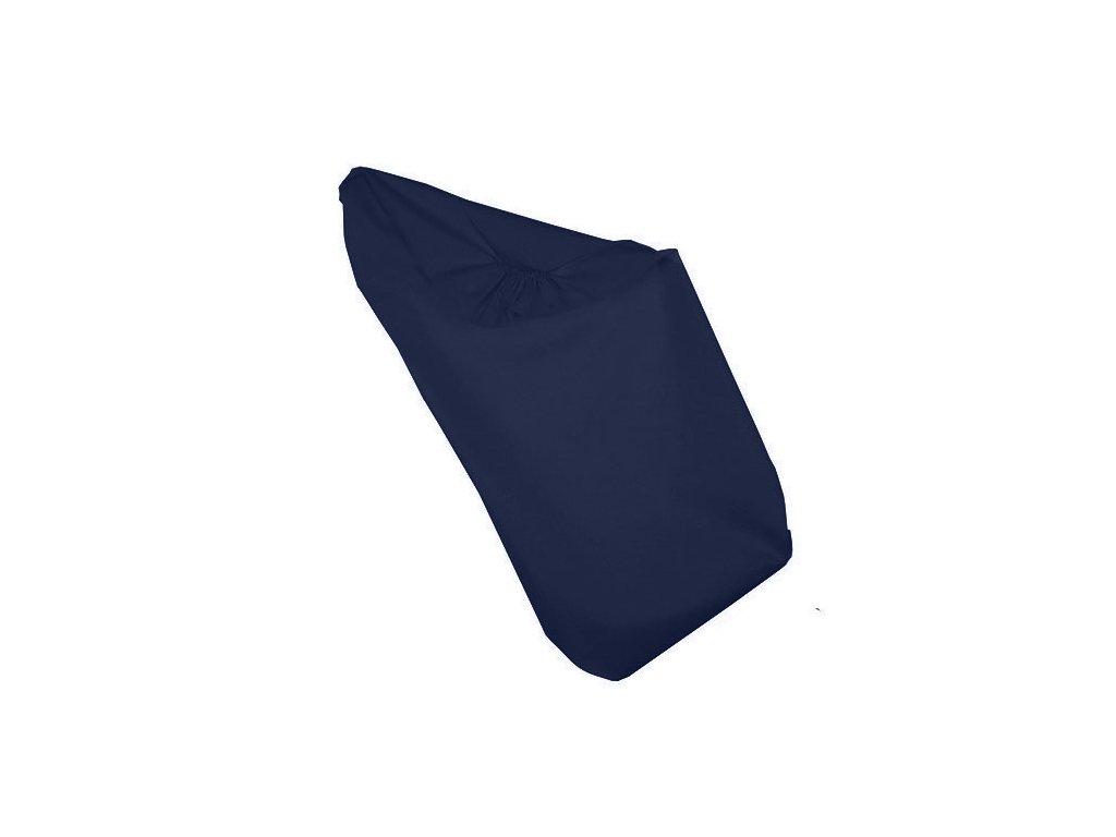 Babyrenka Prostěradlo na gumu 70x140 Lisa dark blue