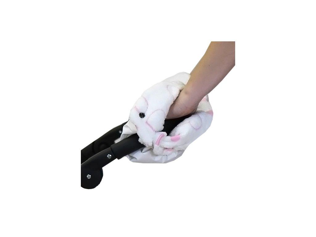 Babyrenka rukávník zateplení rukojeti Simple Polar bílé Srdíčka
