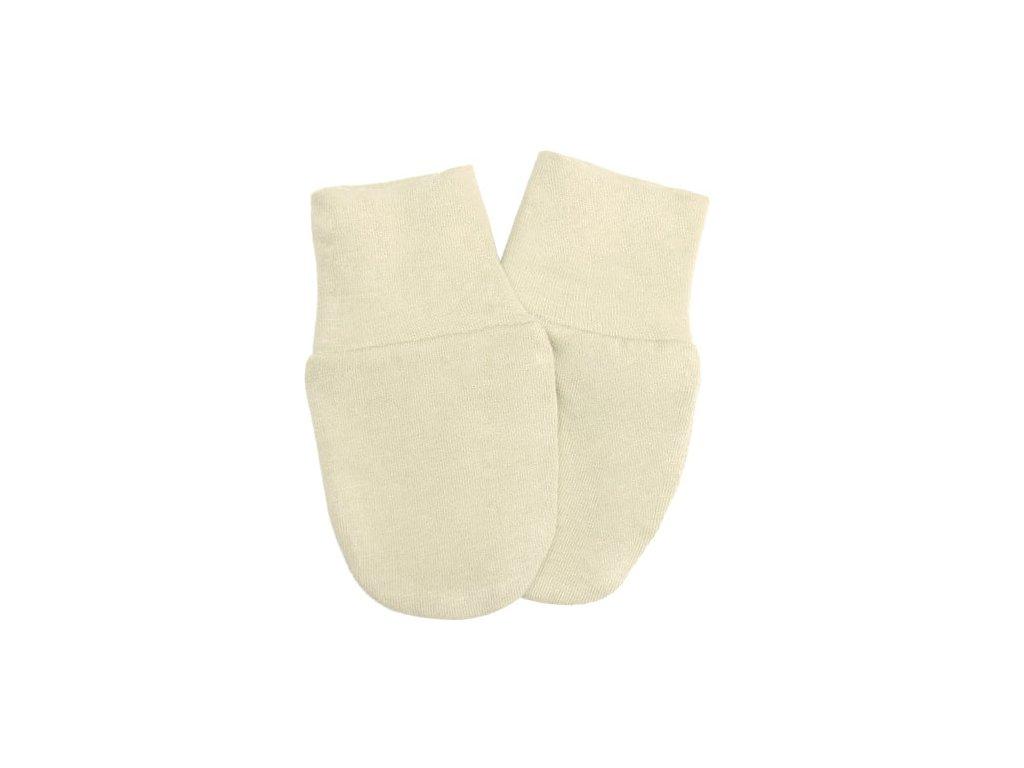 Babyrenka kojenecké rukavičky úplet natur